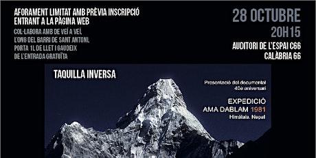 """40 aniversari """"Expedició Ama Dablam 1981"""" - Aforament limitat entradas"""