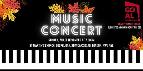 GOAL YC Presents Autumn Classics - A Fundraising Music Concert tickets