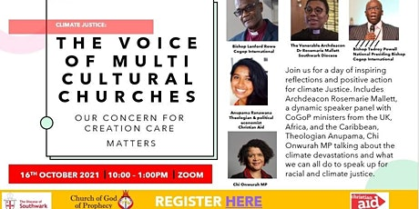 Climate Justice: The voice of multi-cultural churches tickets