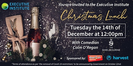 The Executive Institute members Christmas Lunch tickets