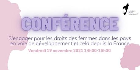 S'engager pour les femmes dans les PED depuis la France billets
