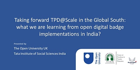 Taking forward TPD@Scale in the Global South tickets