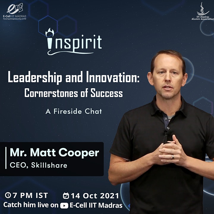 Leadership & Innovation | Matt Cooper, CEO Skill Share | Inspirit Lecture image