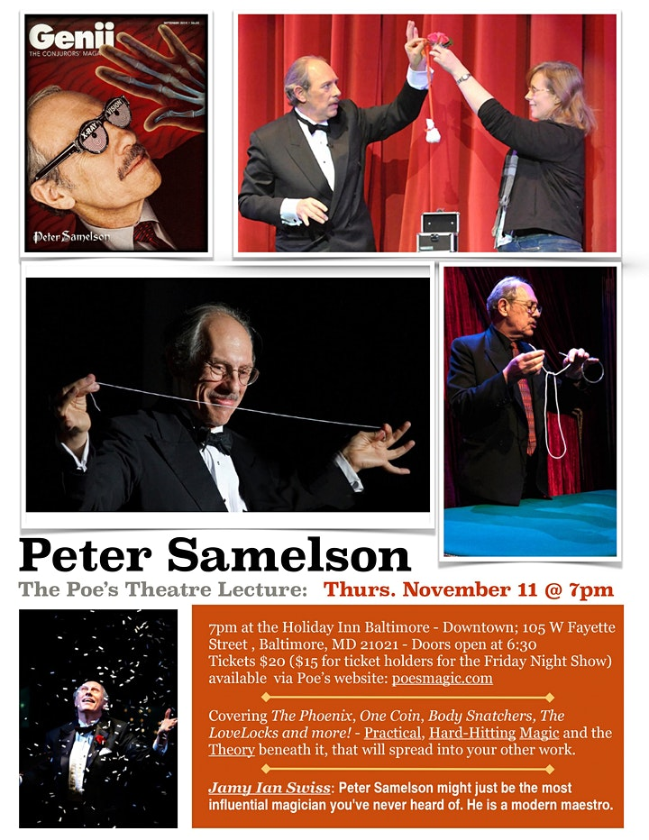 Magic Lecture with Peter Samelson image
