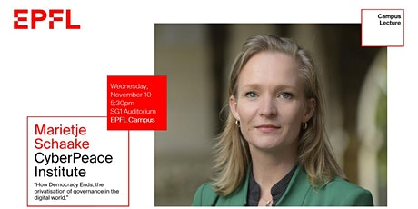 Campus Lecture with Marietje Schaake tickets