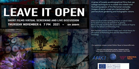 Leave it Open: Short Films and Discussion with Laura Iancu tickets