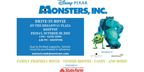 Halloween Drive-in Movie on the Rooftop - Monsters, Inc. tickets