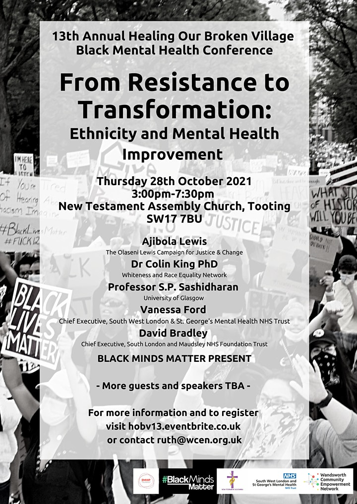 13th Annual Healing Our Broken Village Black Mental Health Conference image