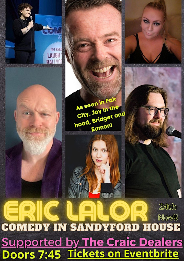 Eric Lalor - Live in Sandyford House - Supported by The Craic Dealers image