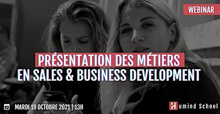 Présentation des métiers en Sales & Business Development billets