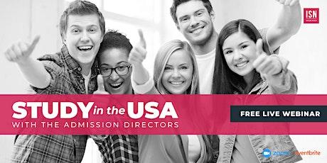 Study in the USA Webinar for South Asia biglietti