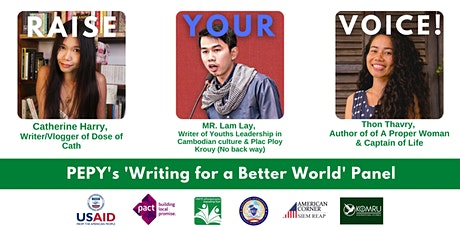 PEPY's Raise Your Voice 'Writing for a Better World' Panel tickets