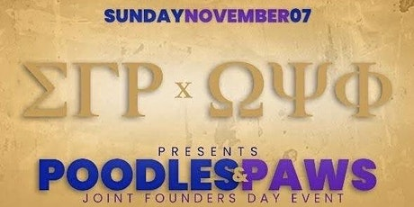 POODLES & PAWS JOINT FOUNDERS DAY EVENT tickets