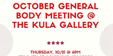 October General Body Meeting tickets