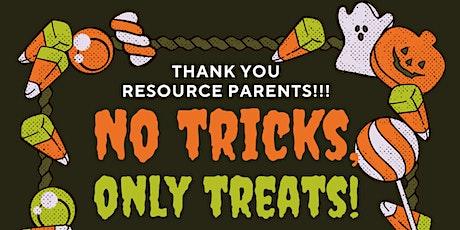 Resource parent appreciation Drive through treat! tickets