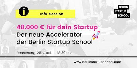 48.000 € für dein Startup: Der neue Accelerator der Berlin Startup School Tickets