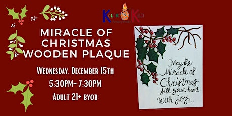 Miracle of Christmas Wooden Plaque tickets
