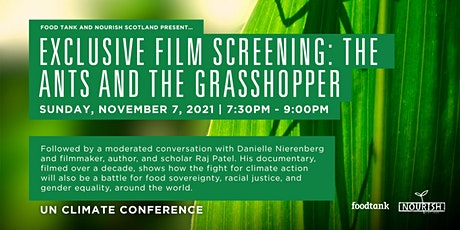 Film Screening: The Ants and the Grasshopper. Live Event at the UN-COP26. tickets