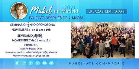 MABEL KATZ, Seminario Ho'oponopono  y  Zero Frequency | 6 y 7 noviembre entradas