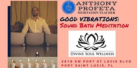 Holiday  SoundBath Meditation with Anthony Profeta Meditation Teacher tickets