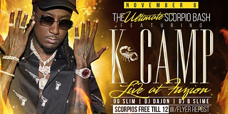 11/6 K. CAMP LIVE AT FUZION!!! tickets
