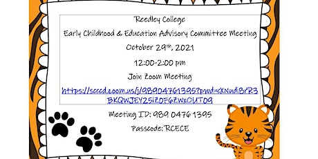 Reedley College Early Childhood & Education Advisory Committee Meeting tickets