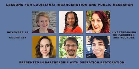 Lessons for Louisiana: Incarceration and Public History tickets