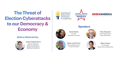 The Threat of Election Cyberattacks to our Democracy & Economy tickets