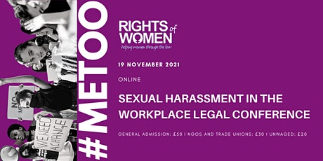 Rights of Women Legal  Conference on Sexual Harassment in the Workplace tickets