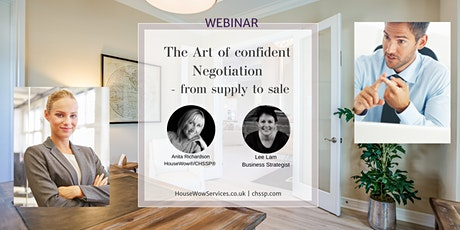 WEBINAR   'The Art of Confident Negotiation – From Supply to Sale' biljetter