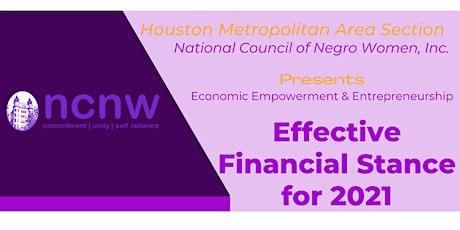 Economic Empowerment & Entrepreneurship:Effective Financial Stance for 2021 tickets