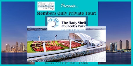 Private Tour of The Rady Shell + Happy Hour - Members Only Event! tickets
