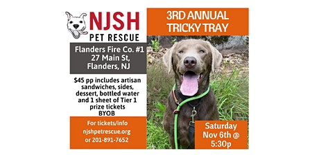 3rd Annual Tricky Tray ~ NJSH Pet Rescue tickets