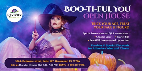 BOO-ti-ful YOU Open House Revivify Medical Spa Beaumont tickets