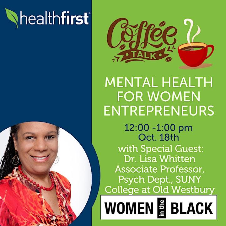 Coffee Talk - Mental Health Conversation For Women Entrepreneurs image