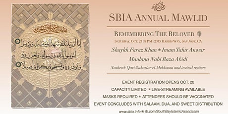 SBIA Mawlid : In-Person Registration tickets