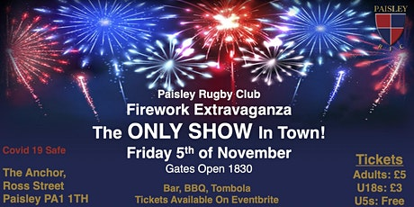 Paisley Rugby Club Fireworks Night! tickets