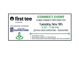 First Tee - Broward | Connect Event tickets