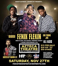 Fenix Flexin, Daboii, EBK Young Joc performing LIVE in Fresno! tickets