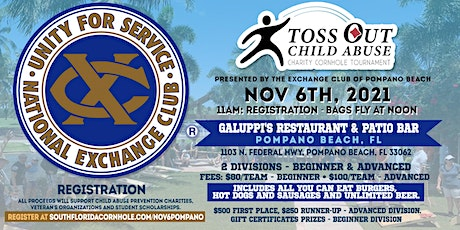Toss out Child Abuse Cornhole Tournament tickets