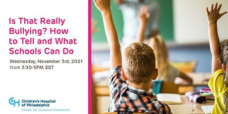 Is That Really Bullying? How to Tell and What Schools Can Do tickets