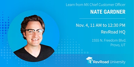 RevU: Creating A Formula for Customer Success with Nate Gardner tickets