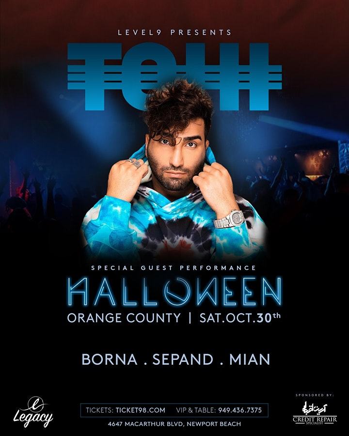 """12th Annual Persian Halloween Event Feat. Super Star """"TOHI"""" image"""