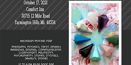 Michigan Psychic Fair October 17, 2021, Comfort Inn Farmington Hills, MI. tickets