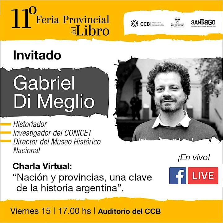 """Imagen de Charla: """"Nación y Provincias, una clave de la historia argentina"""""""