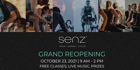 Senz Yoga, Barre & Cycle Grand Reopening tickets