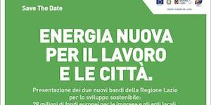 ENERGIA NUOVA PER IL LAVORO E LE CITTA'
