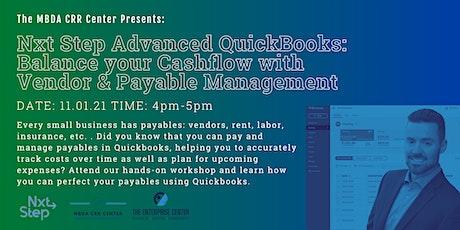 Advanced  Quickbooks Online: Managing Vendors & Payables tickets