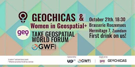 Geochicas & Women in Geospatial+ take GWF tickets
