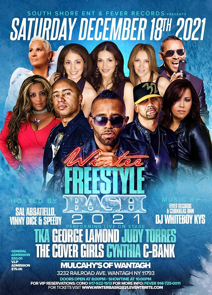 Winter Freestyle Bash 2021 @ Mulcahy's Concert Hall image
